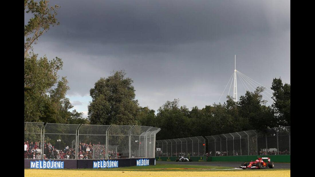 Regenwolken - Formel 1 - GP Australien - 16. März 2014