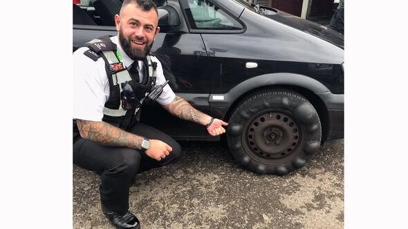 Reifen England Derbyshire Police