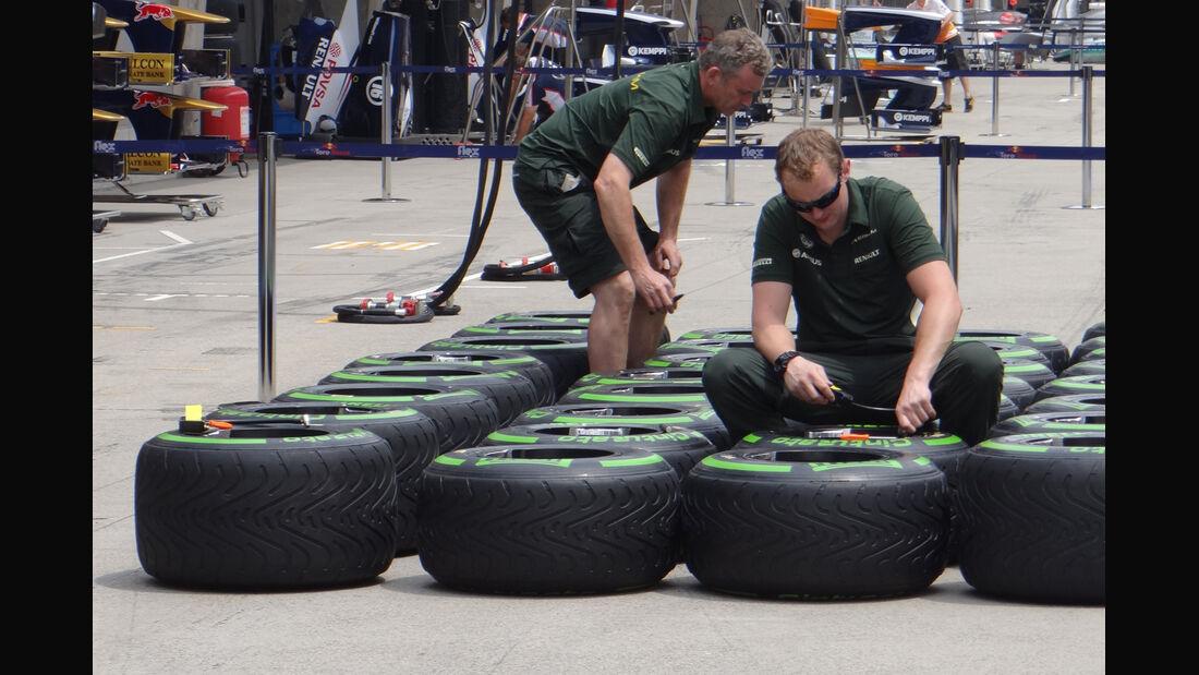 Reifen - Formel 1 - GP China - 11. April 2013