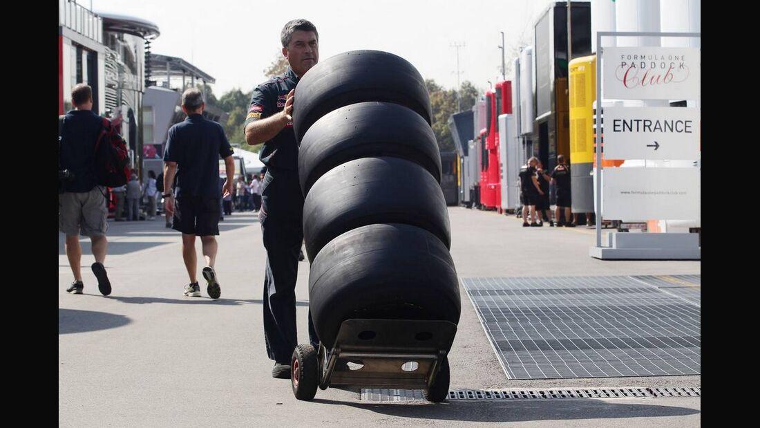 Reifen - Formel 1 - GP Italien - 6. September 2012