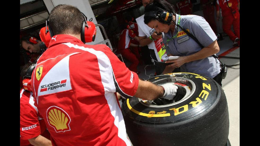 Reifen - GP Ungarn - Formel 1 - 30.7.2011