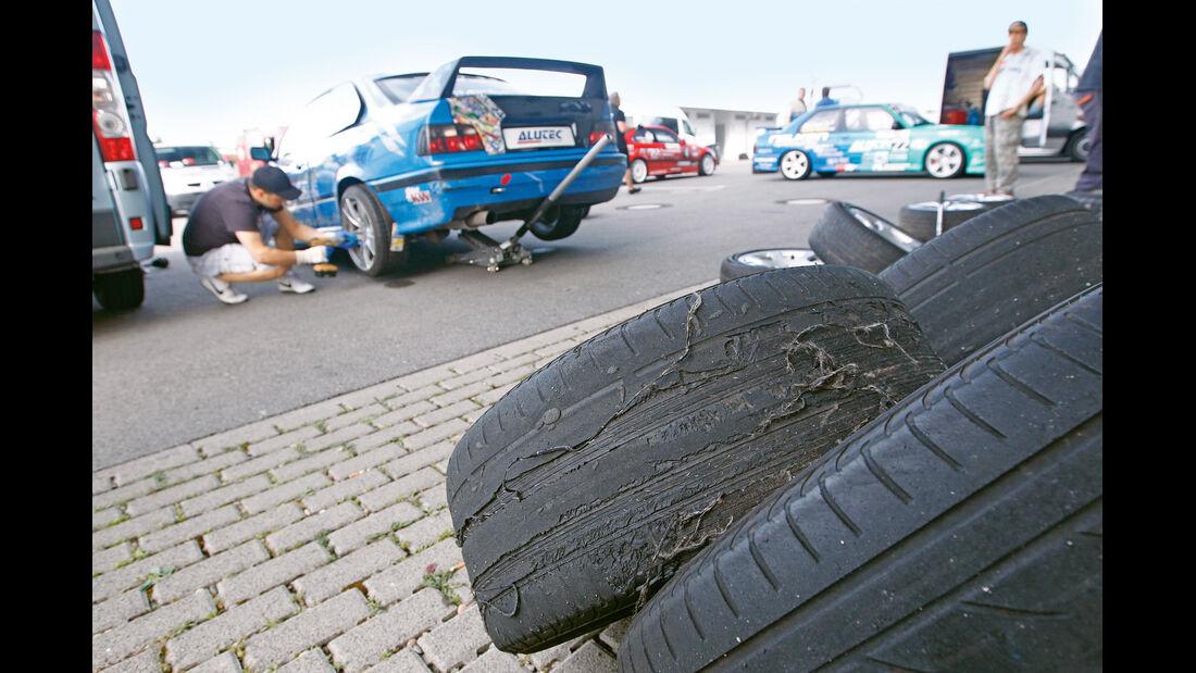 Reifen, Schaden
