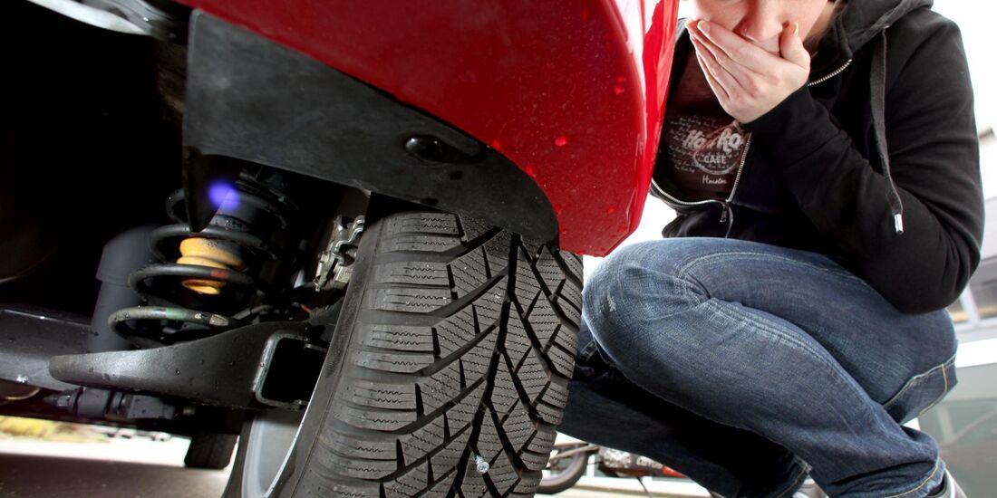 Reifenschäden entstehen häufig durch Anwendungsfehler.