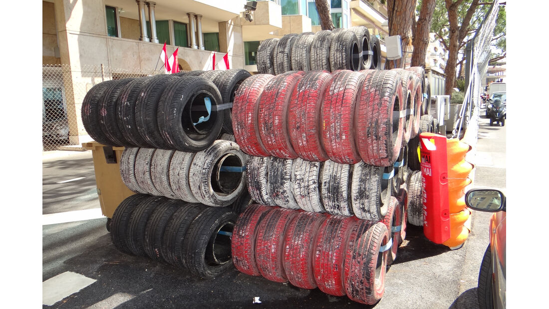 Reifenstapel - GP Monaco - 23. Mai 2012