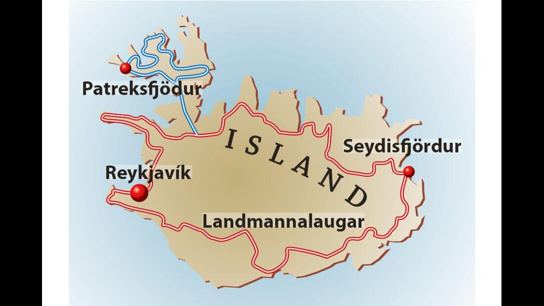 Reise Island im Mercedes-Benz 280 GE