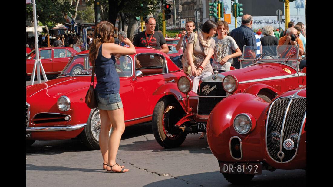 Reise im Alfa Romeo GT 1300 zum Alfa Romeo Jubiläum