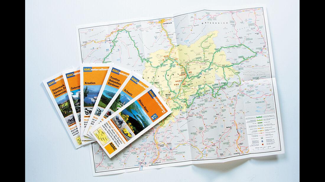 Reise mit Klassiker, Kartenmaterial