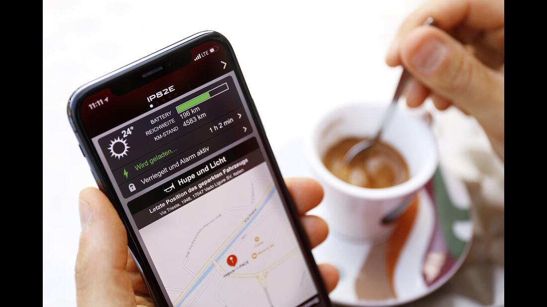 Reisen mit dem Jaguar I-Pace, Ladevorgang App
