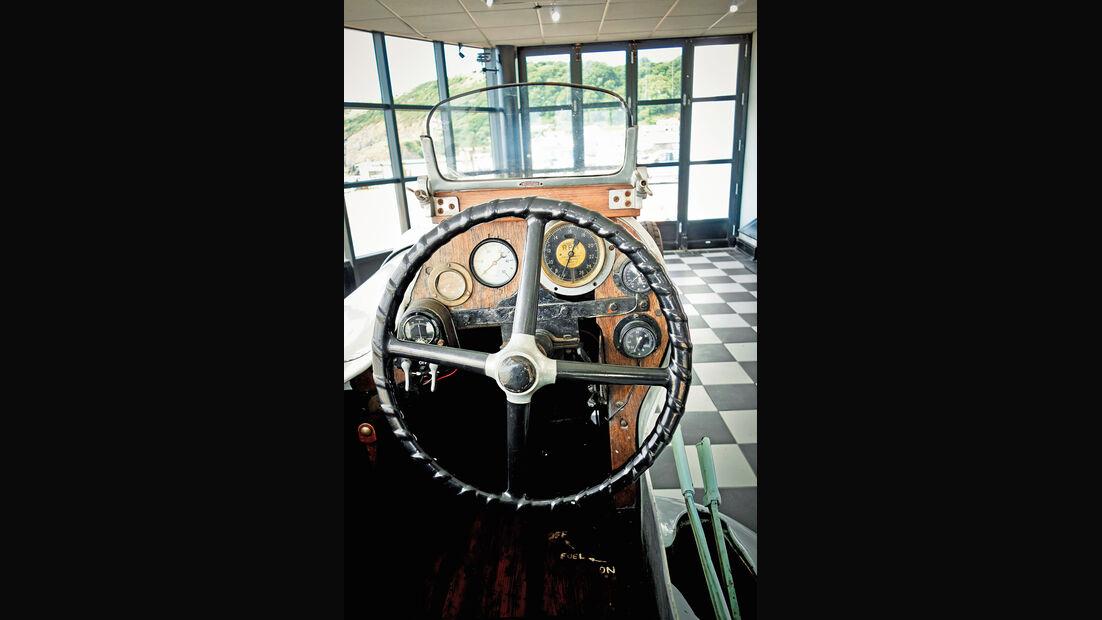 Rekordfahrzeug, Babs, Cockpit, Steuerrad