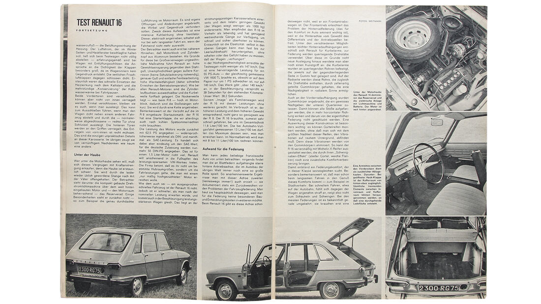 Renault 16, Alter Artikel