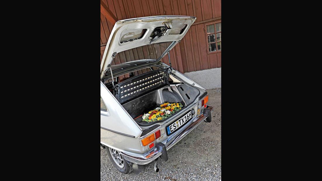 Renault 16 TX, Kofferraum