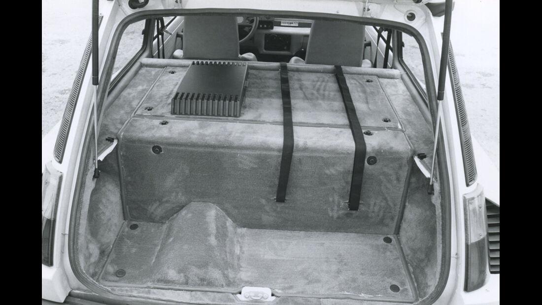 Renault 5 Turbo - Kofferraum und Mittelmotor