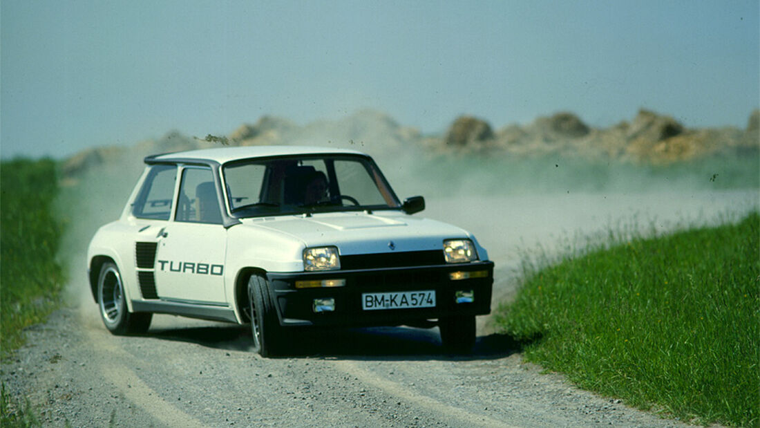 Renault 5 Turbo beim Driften