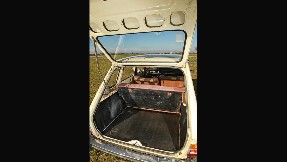 Renault 6, Kofferraum, Heckklappe