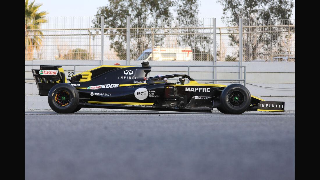 Renault - Abmessungen - Barcelona-Test 2019