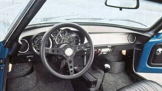 Renault Alpine 1600 S, Cockpit, Lenkrad