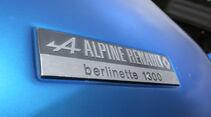 Renault Alpine A110 1300 VC, Schild, Typenbezeichnung