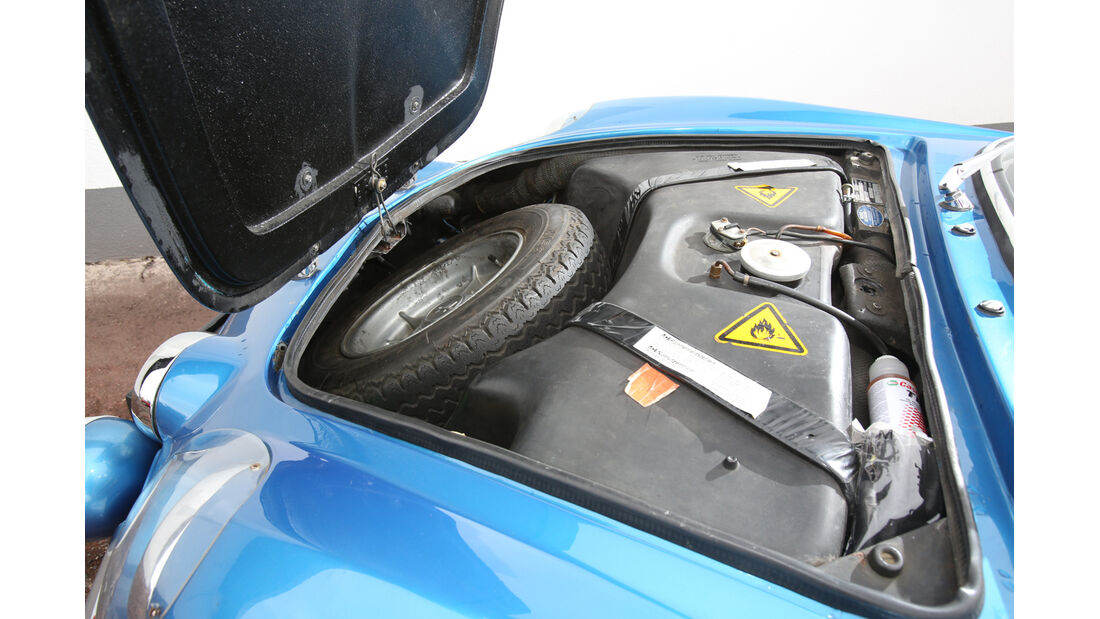 Renault Alpine A110, Ersatzrad