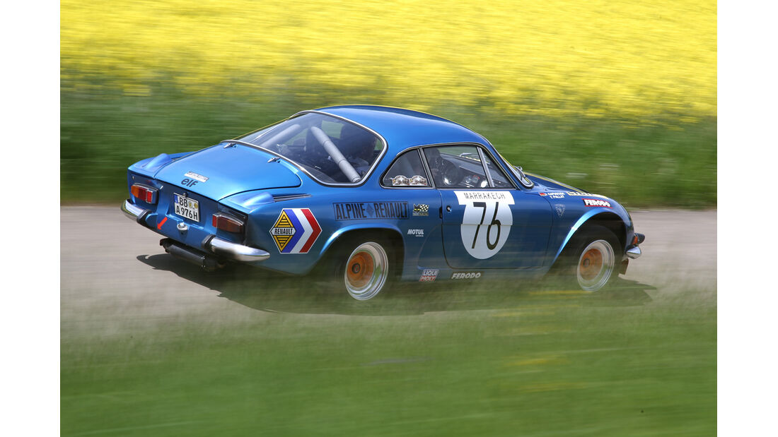 Renault Alpine A110, Heckansicht