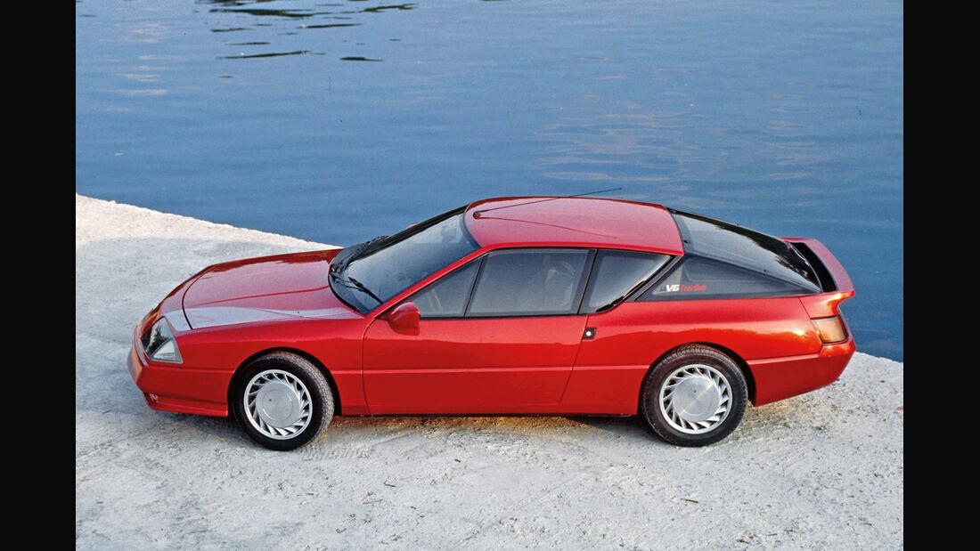 Renault Alpine V6 Turbo, Seitenansicht