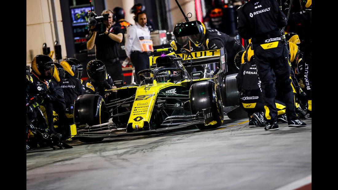 Renault - Boxenstopp - Formel 1 - 2019