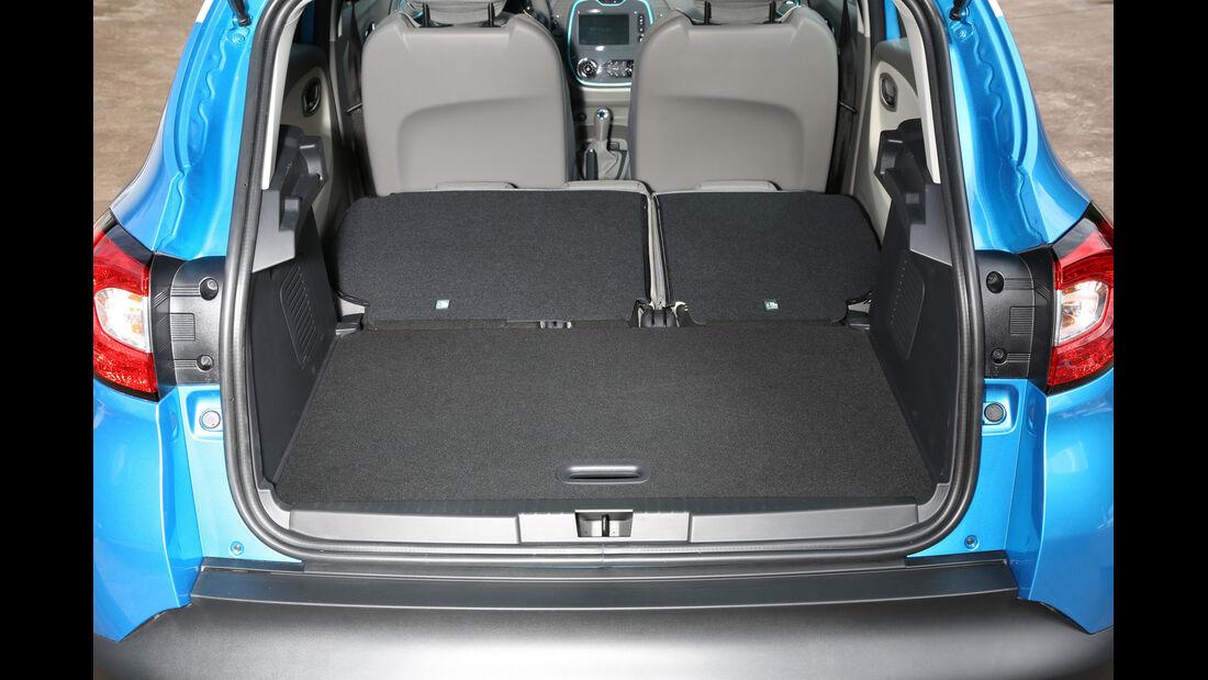 Renault Captur, Kofferraum, Sitz Umklappen
