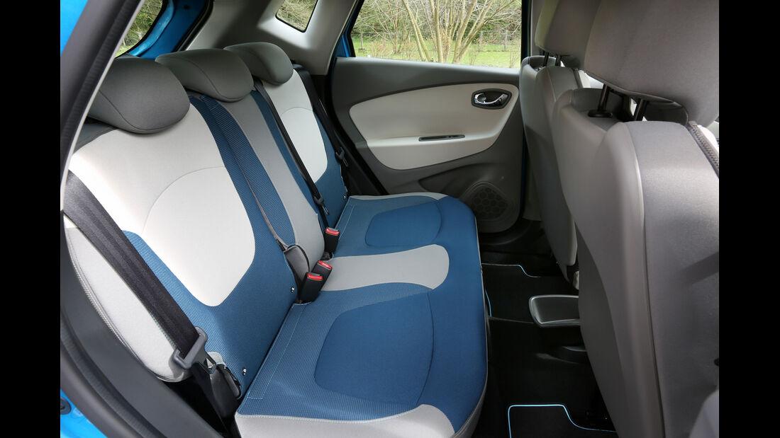 Renault Captur, Rücksitze