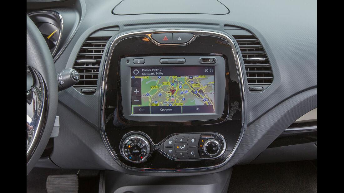 Renault Captur TCe 120, Bildschirm, Mittelkonsole