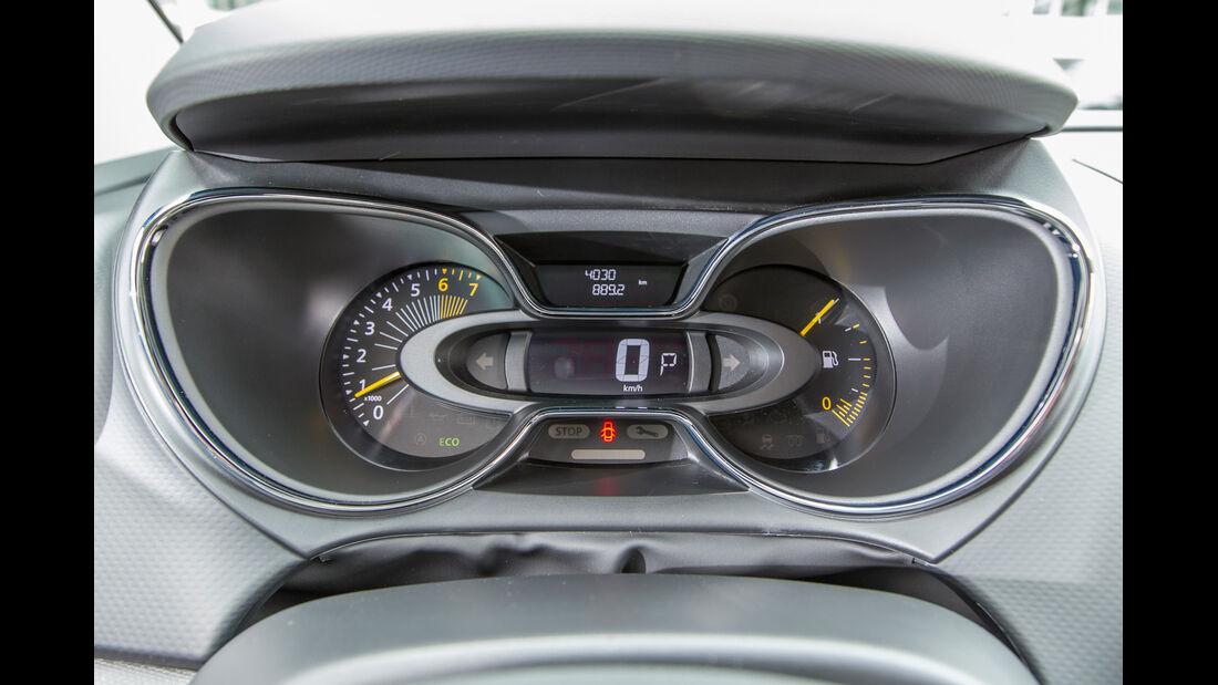 Renault Captur TCe 120, Rundinstrumente