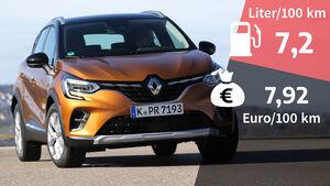 Renault Captur TCe 155, Verbrauch und Kosten