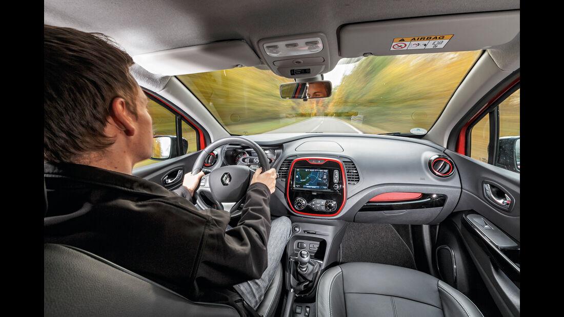 Renault Captur dCi 110, Fahrersicht