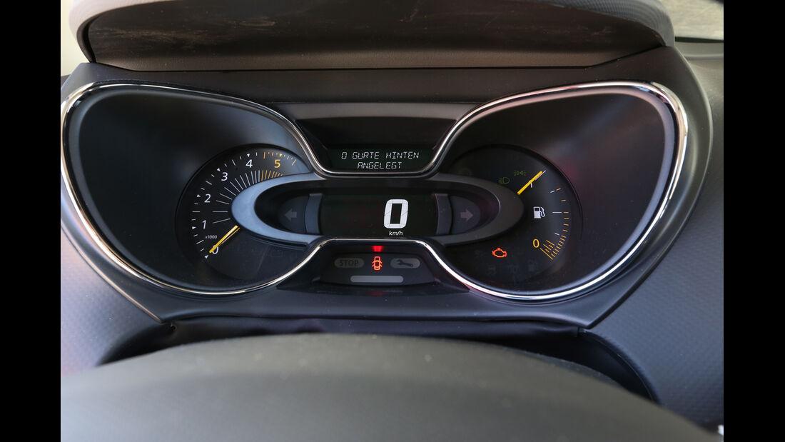 Renault Captur dCi 90, Anzeigeinstrumente