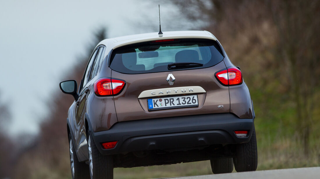 Renault Captur dCi 90, Heckansicht