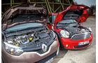 Renault Captur dCi 90, Mini One D Countryman, Motor
