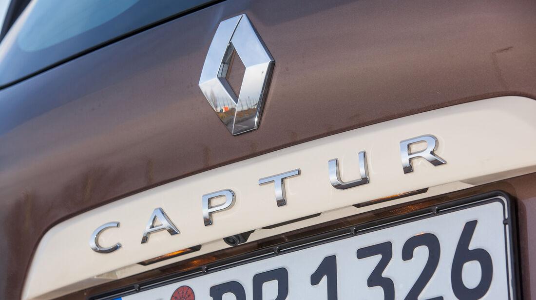 Renault Captur dCi 90, Schriftzug, Heck