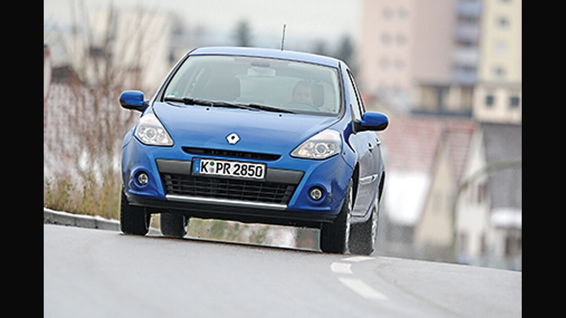 Renault Clio 1.2 16V, Frontansicht