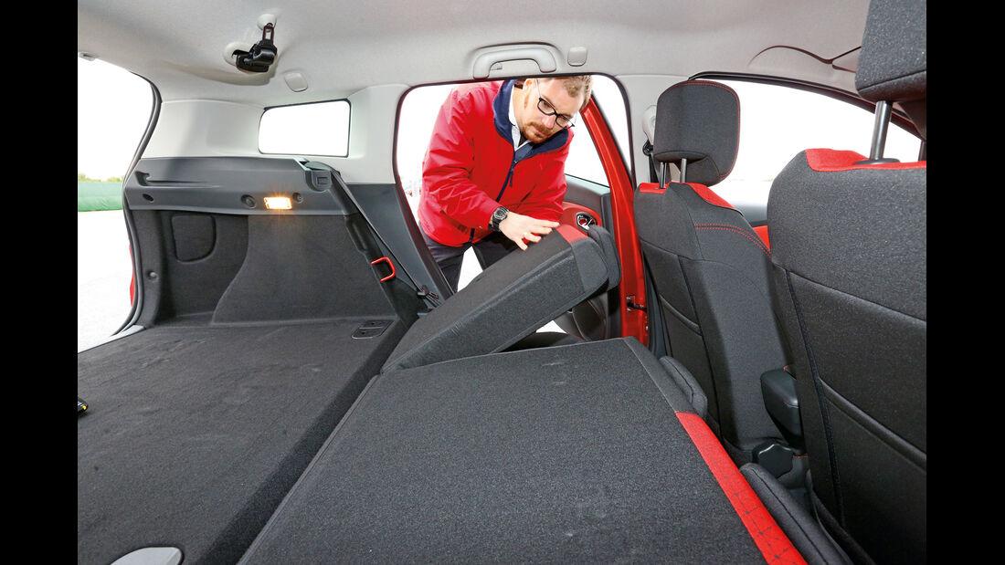Renault Clio Grandtour, Ladefläche, Sitze, Umklappen
