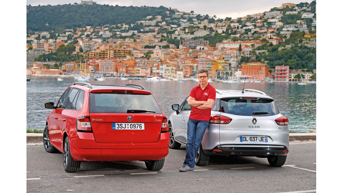 Renault Clio Grandtour, Skoda Fabia Combi,