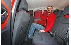 Renault Clio Grandtour dci 90, Rücksitz, Beinfreiheit