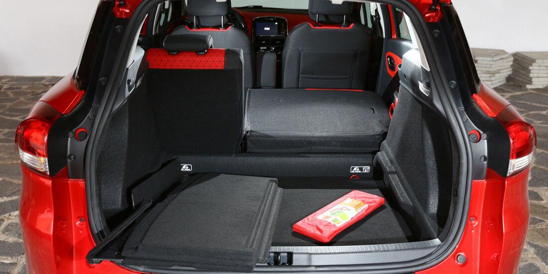 Renault Clio Grandtour dci 90, Rücksitz, Umklappen, Ladefläche