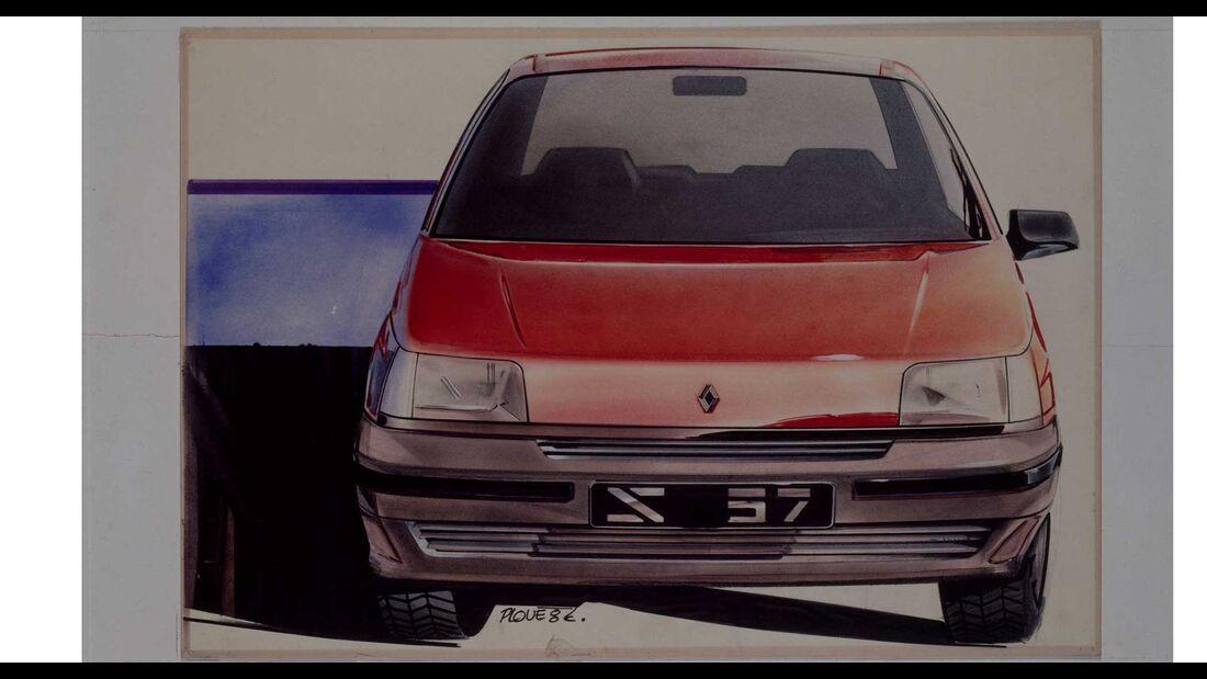 Renault Clio I Design sketch