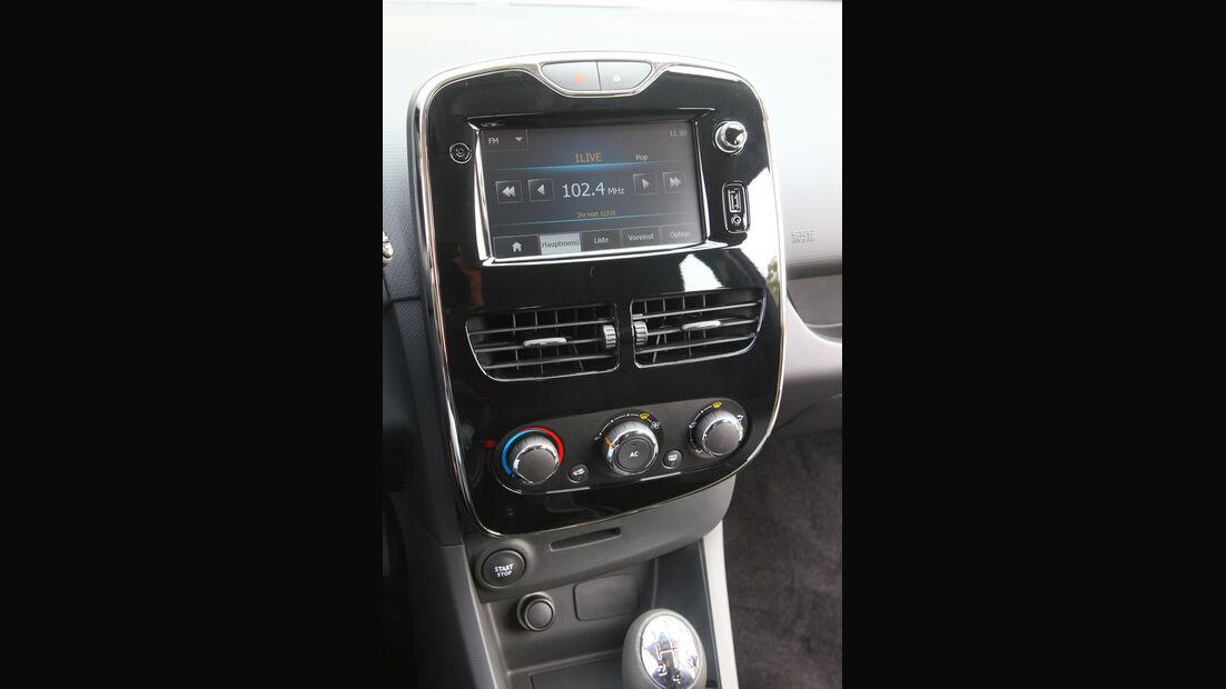 Renault Clio, Mittelkonsole
