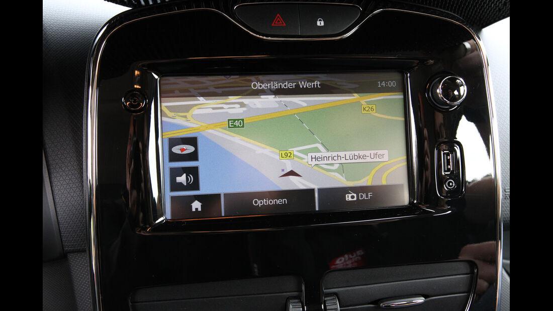 Renault Clio, Navi, Bildschirm