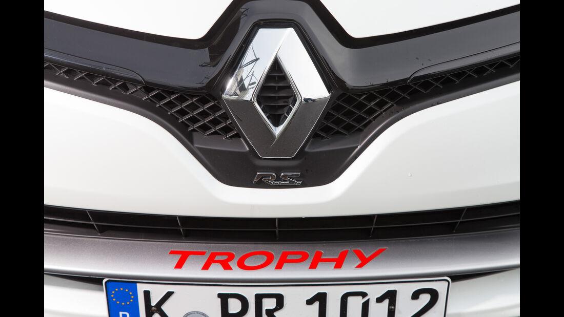 Renault Clio R.S. 220 Trophy, Emblem, Kühlergrill