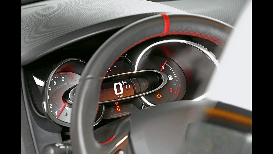 Renault Clio R.S., Anzeigeinstrumente