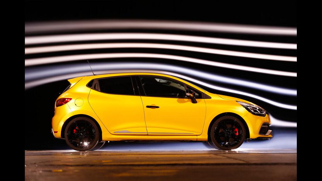 Renault Clio R.S, Seitenansicht, Windkanal