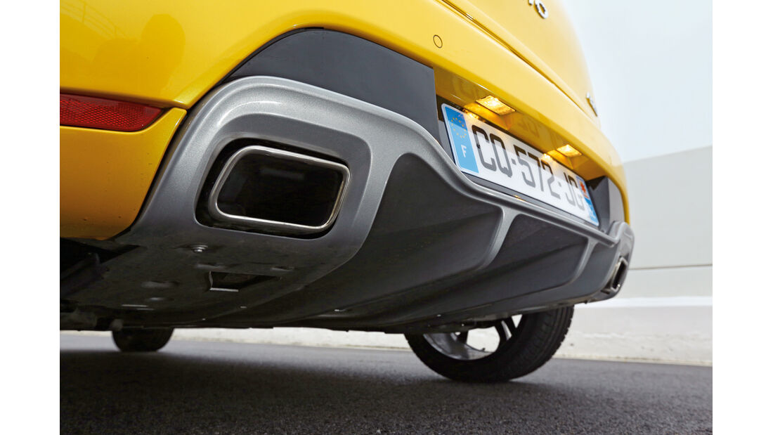 Renault Clio RS, Auspuff, Endrohr