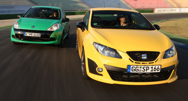 Renault Clio RS Cup, Seat Ibiza Cupra
