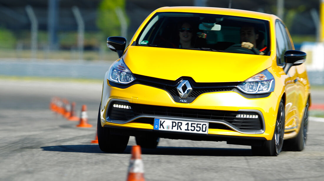 Renault Clio RS, Frontansicht, Slalom