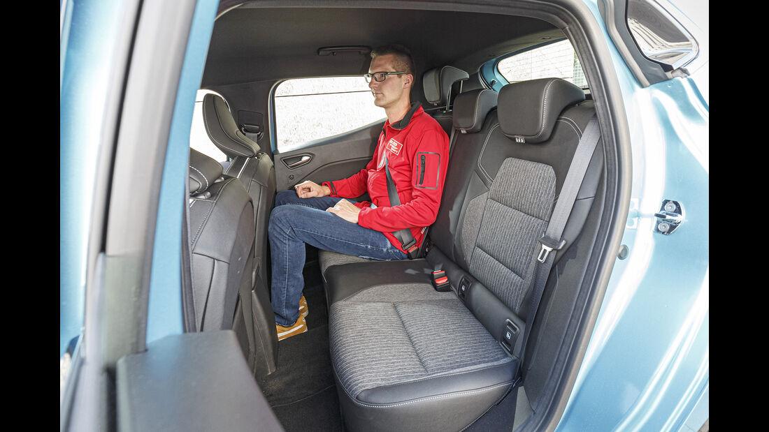 Renault Clio, Rückbank